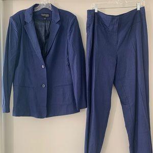 Chadwicks of Boston Linen Pant Suit: Navy Blue